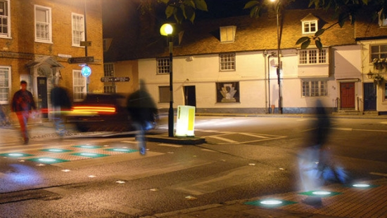 Pavegen system at traffic lights